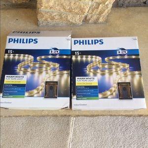 NEW Philips LED Warm White 15 Flat Rope Lights